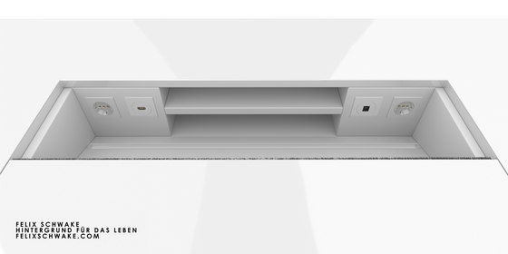ESCRITORIO II edición especial - Lacado piano blanco de Rechteck | Mesas contract