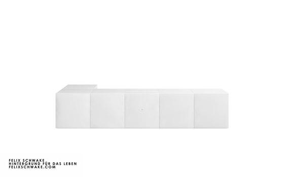 ESCRITORIO III edición especial - Lacado piano blanco de Rechteck | Mesas contract