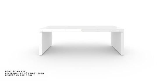 BUREAU IV édition spéciale - Piano laqué blanc de Rechteck | Tables collectivités