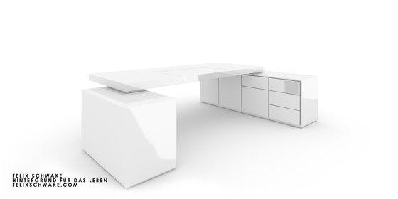ESCRITORIO IV-II edición especial - Lacado piano blanco de Rechteck | Mesas contract