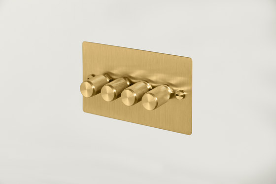 Electricity | 4G Dimmer | Brass by Buster + Punch | Rotary dimmers