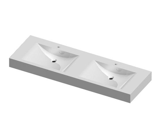 StoneTec-PRO Swing 495 double-washbasin by CONTI+ | Wash basins