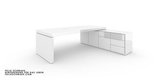 ESCRITORIO IV-I-I edición especial - Lacado piano blanco de Rechteck | Mesas contract