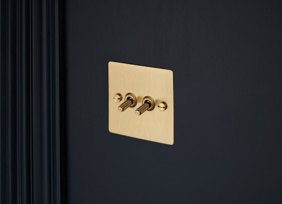 Electricity   2G Toggle   Brass by Buster + Punch   Toggle switches