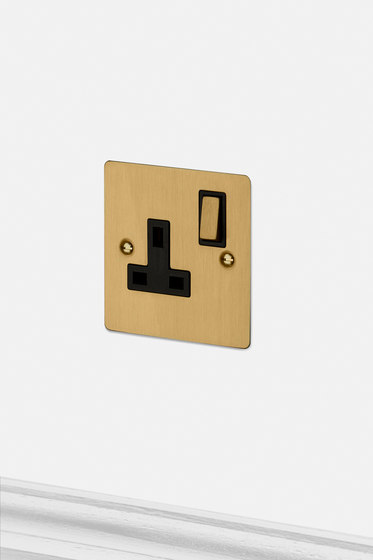 Electricity | 1G UK Socket | Brass by Buster + Punch | British sockets