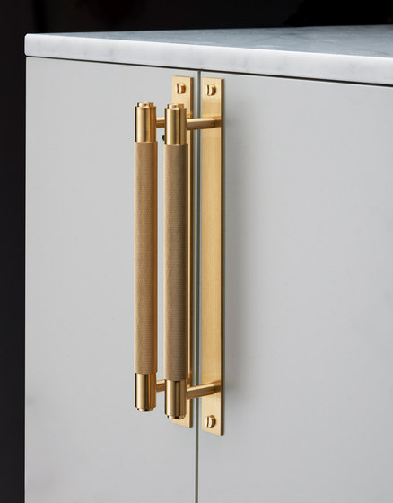 Pull Bar | Plate| Brass by Buster + Punch | Cabinet handles