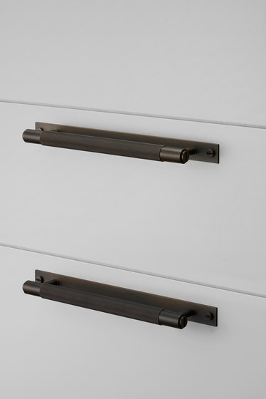 Pull Bar | Plate | Smoked Bronze by Buster + Punch | Cabinet handles