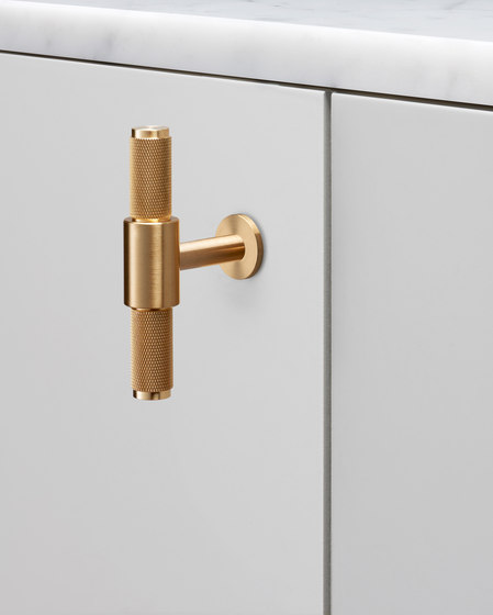 T Bar | Nude | Brass by Buster + Punch | Cabinet handles