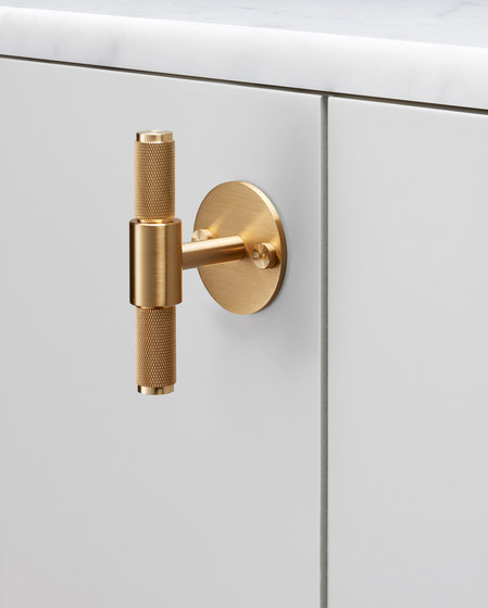 T Bar | Plate | Brass by Buster + Punch | Cabinet handles