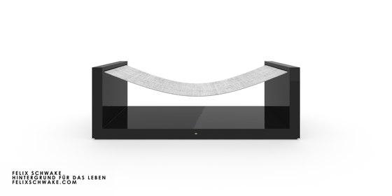 SILLA V edición especial - Laca para piano negra de Rechteck | Hamacas