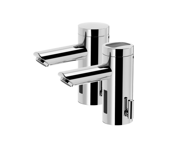 Lino lavatory faucet L30, with IR-Sensor, pressureless - mains operation by CONTI+ | Wash basin taps
