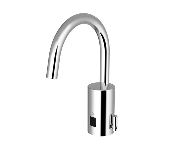 Loopino lavatory faucet G10, with IR-Sensor, with mixing, with drain assembly - battery by CONTI+ | Wash basin taps