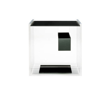 Night table with drawer frame in clear methacrylate drawer top and - Segreto 640 By Zanotta Product