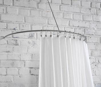 duschvorhangstange gebogen als halbkreis von phos design. Black Bedroom Furniture Sets. Home Design Ideas
