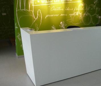 Whitecone reception by AMOS DESIGN | Entrance / Reception