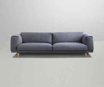 rest sofa by muuto 3 seater 2 seater rest pouf product. Black Bedroom Furniture Sets. Home Design Ideas