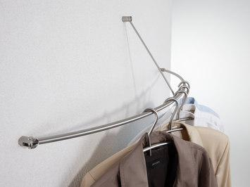 Wandgarderoben halbkreis gebogen von phos design - Wandgarderobe edelstahl design ...