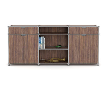 sideboard by system 180 highboard 22929 hifi rack. Black Bedroom Furniture Sets. Home Design Ideas