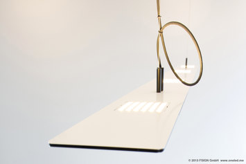 Oneled suspended luminaire oneled frech jo hecht for Suspente luminaire