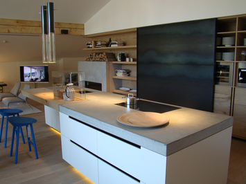 beton k che design beispiele von dade design ag beton. Black Bedroom Furniture Sets. Home Design Ideas
