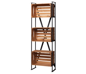 shelf with crates noodles noodles noodles corp. Black Bedroom Furniture Sets. Home Design Ideas