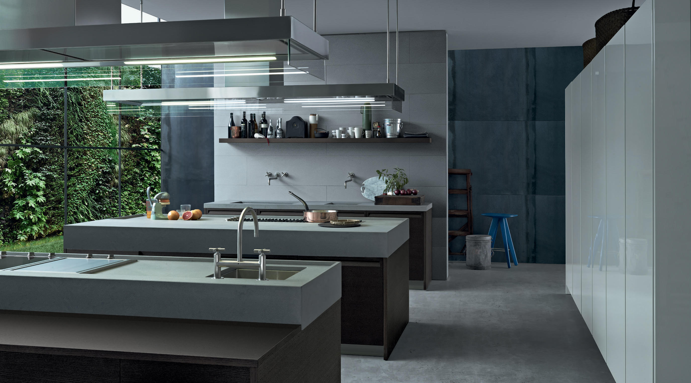 Minimal Island Kitchens From Varenna Poliform Architonic