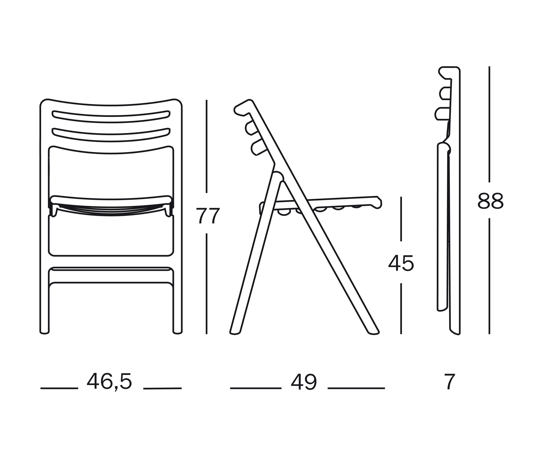 Folding Air Chair Sillas De Magis Architonic