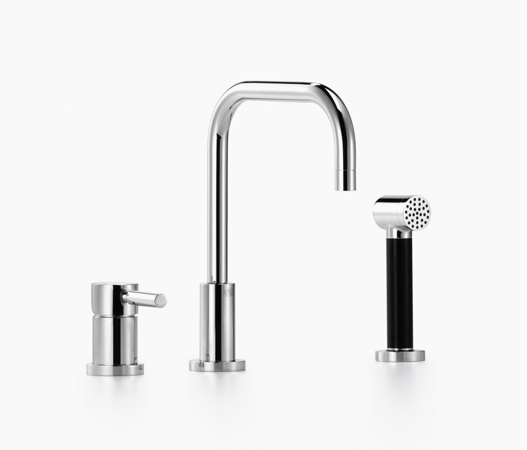 three hole mixer kitchen taps from dornbracht. Black Bedroom Furniture Sets. Home Design Ideas