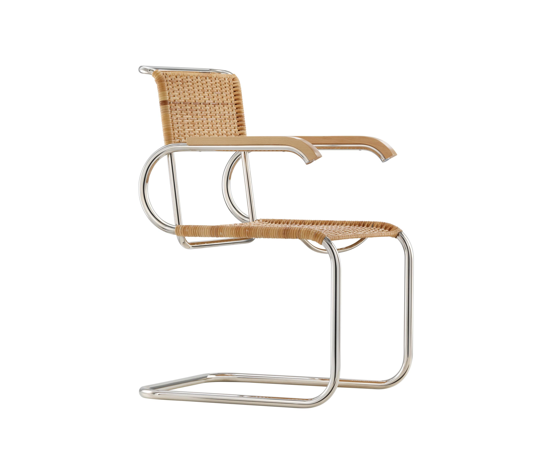 d40 bauhaus freischwinger mit armlehnen besucherst hle von tecta architonic. Black Bedroom Furniture Sets. Home Design Ideas