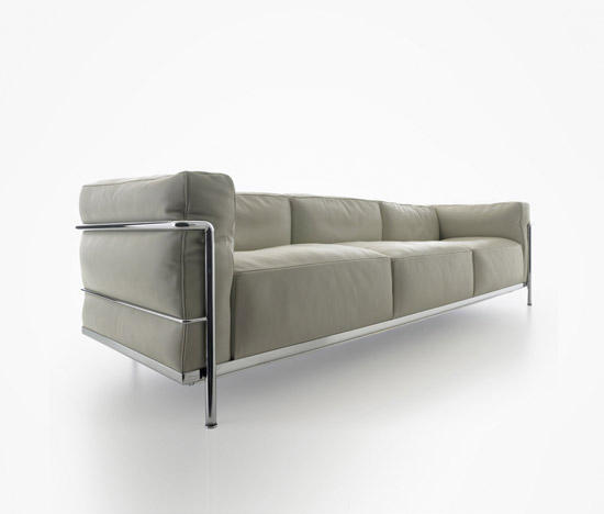 lc3 3 seater lounge sofas from cassina architonic. Black Bedroom Furniture Sets. Home Design Ideas