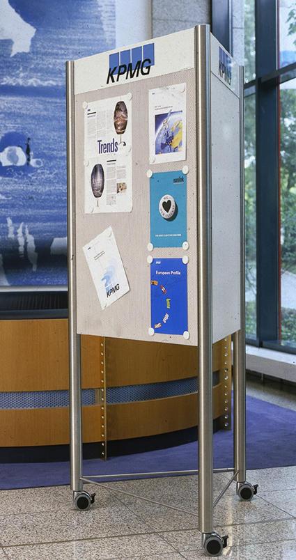 rohr+fläche mobiler ständer d - displayständer von meng