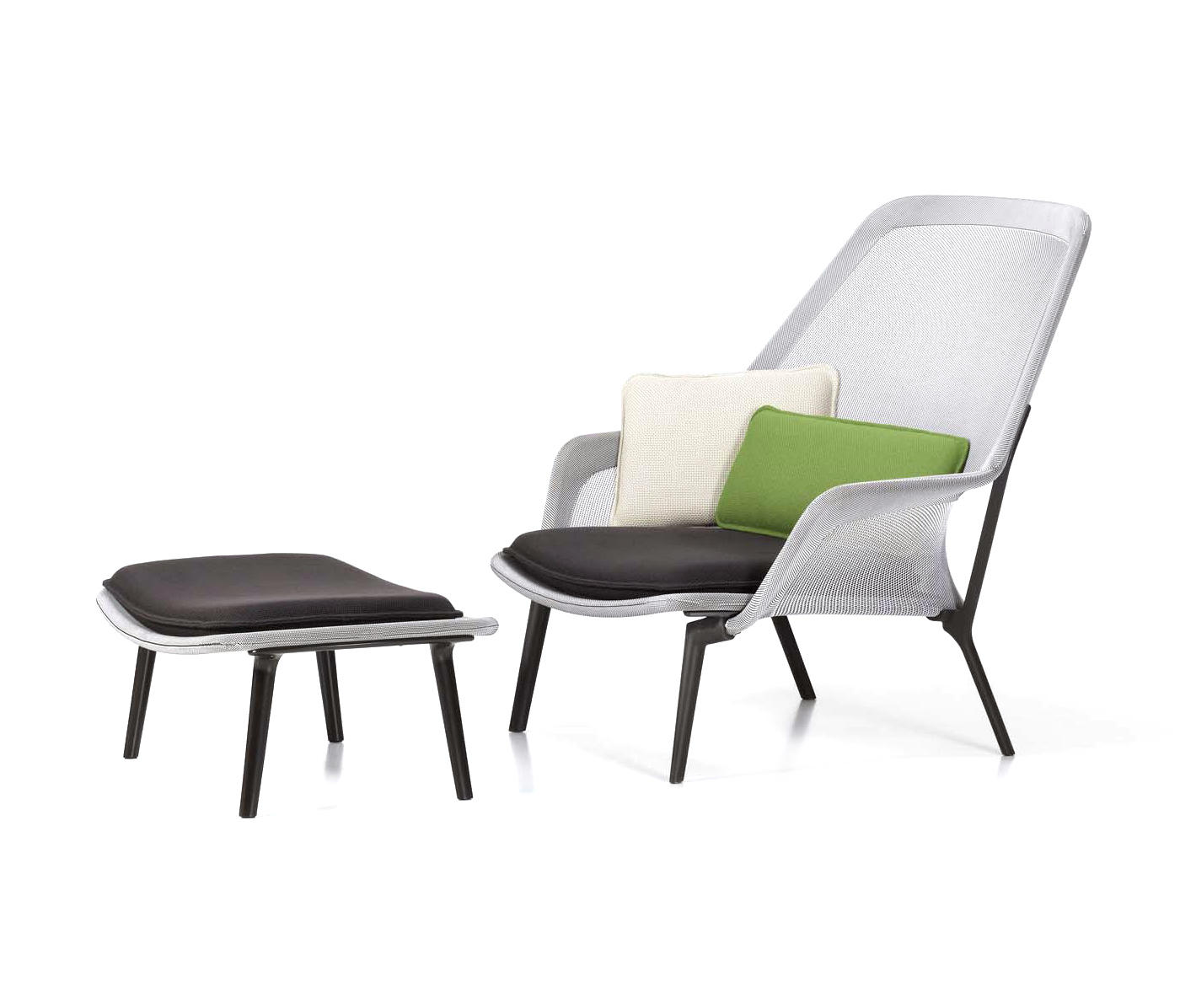 slow chair ottoman lounge chairs from vitra architonic. Black Bedroom Furniture Sets. Home Design Ideas
