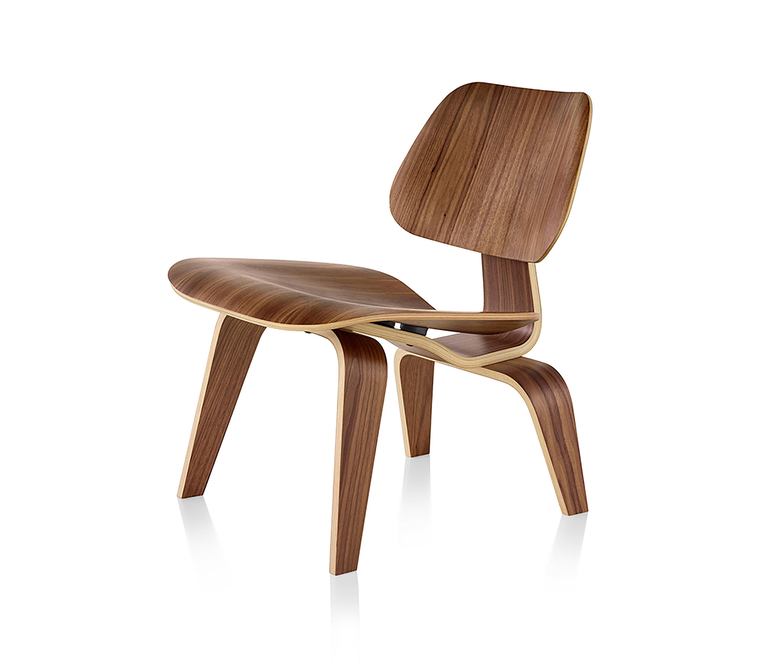 EAMES MOLDED PLYWOOD LOUNGE CHAIR WOOD BASE Lounge chairs from Herman Mille