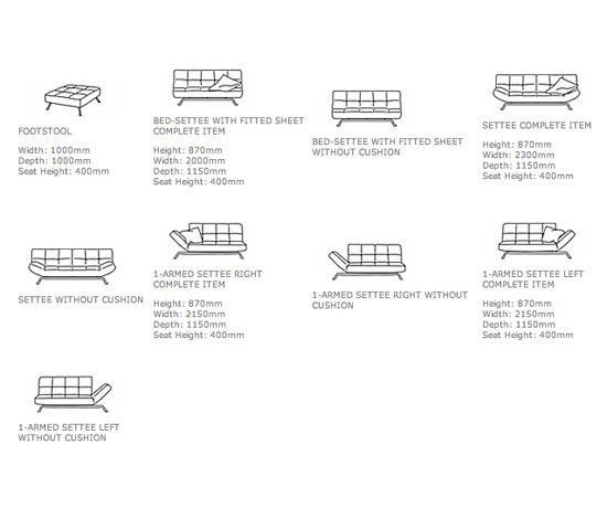 smala schlafsofas von ligne roset architonic. Black Bedroom Furniture Sets. Home Design Ideas