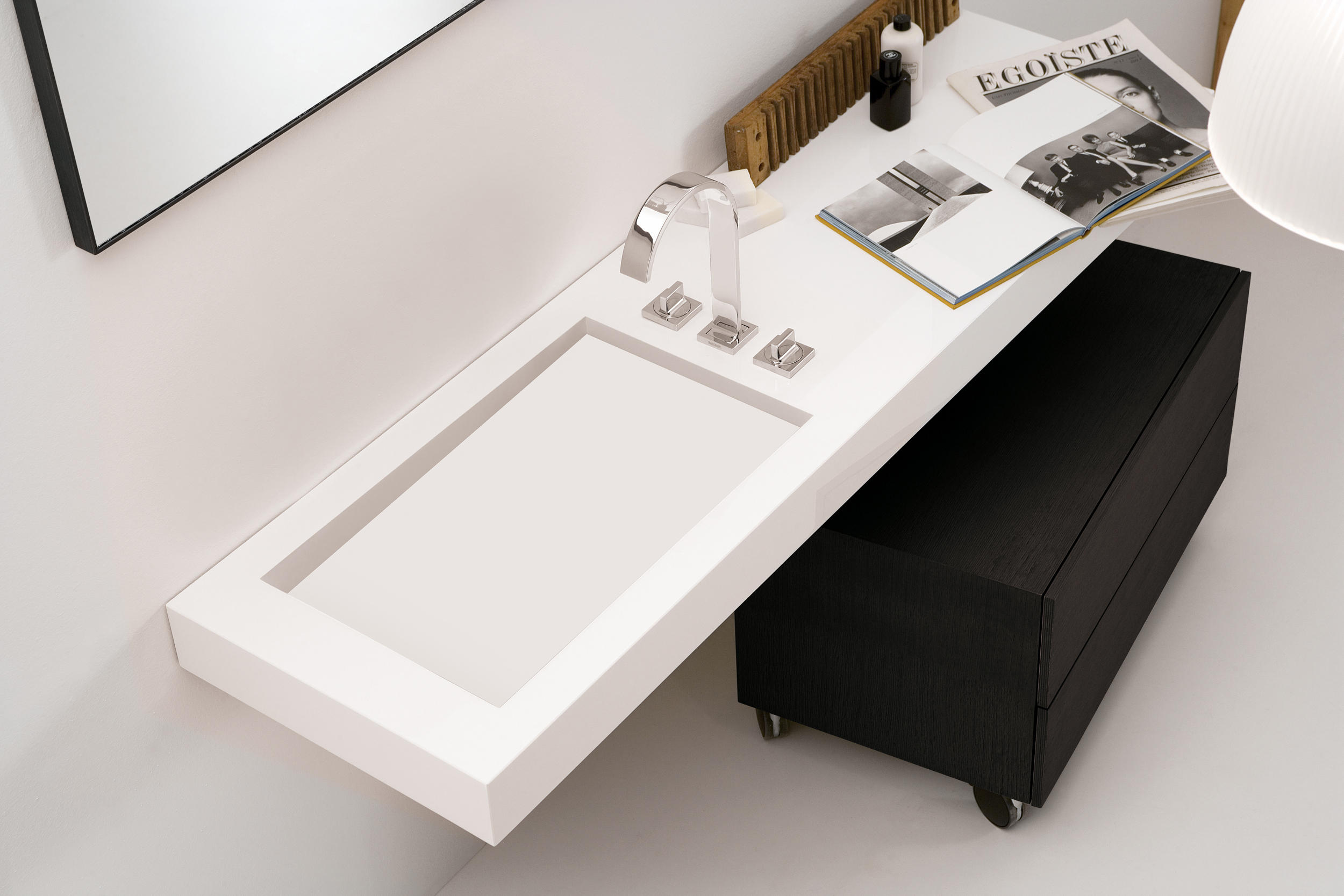 a corian washbasin countertop waschtische von inbani architonic. Black Bedroom Furniture Sets. Home Design Ideas