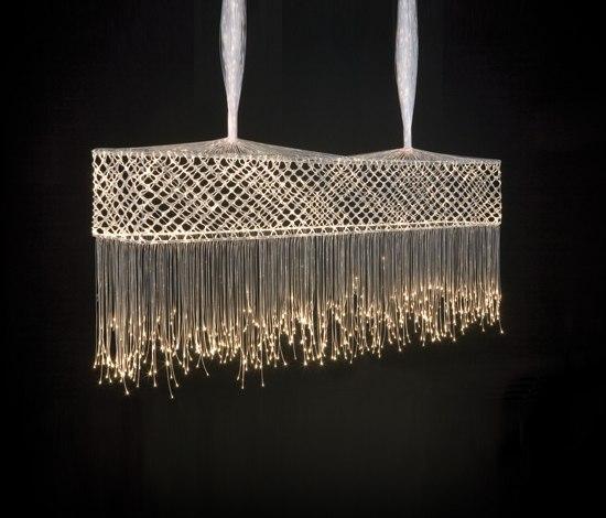 Harp Bar Lamp: BOBBIN LACE BAR SUSPENDED LAMP