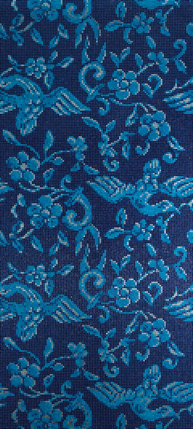 China Birds Blue Mosaic Architonic