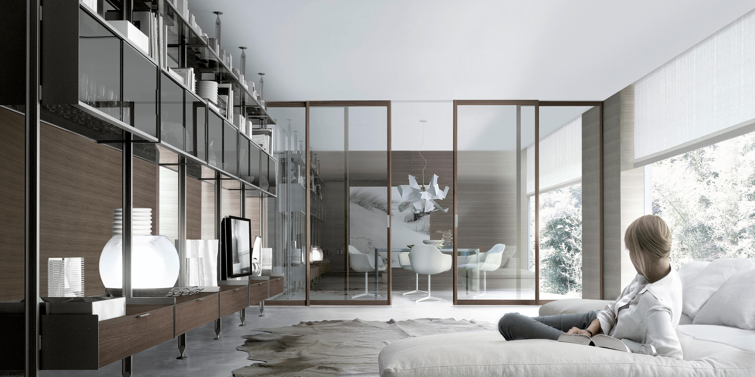 zenit libreria room dividers from rimadesio architonic. Black Bedroom Furniture Sets. Home Design Ideas