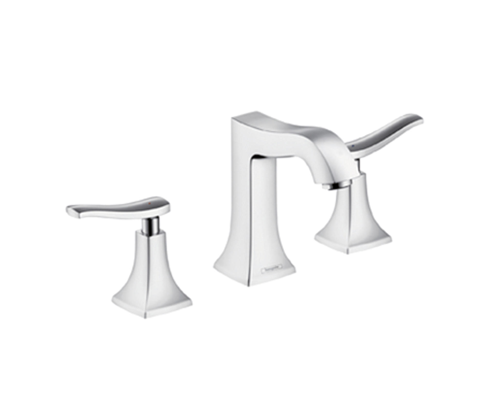 hansgrohe metris classic 3 hole basin mixer dn15 wash basin taps from hansgrohe architonic. Black Bedroom Furniture Sets. Home Design Ideas
