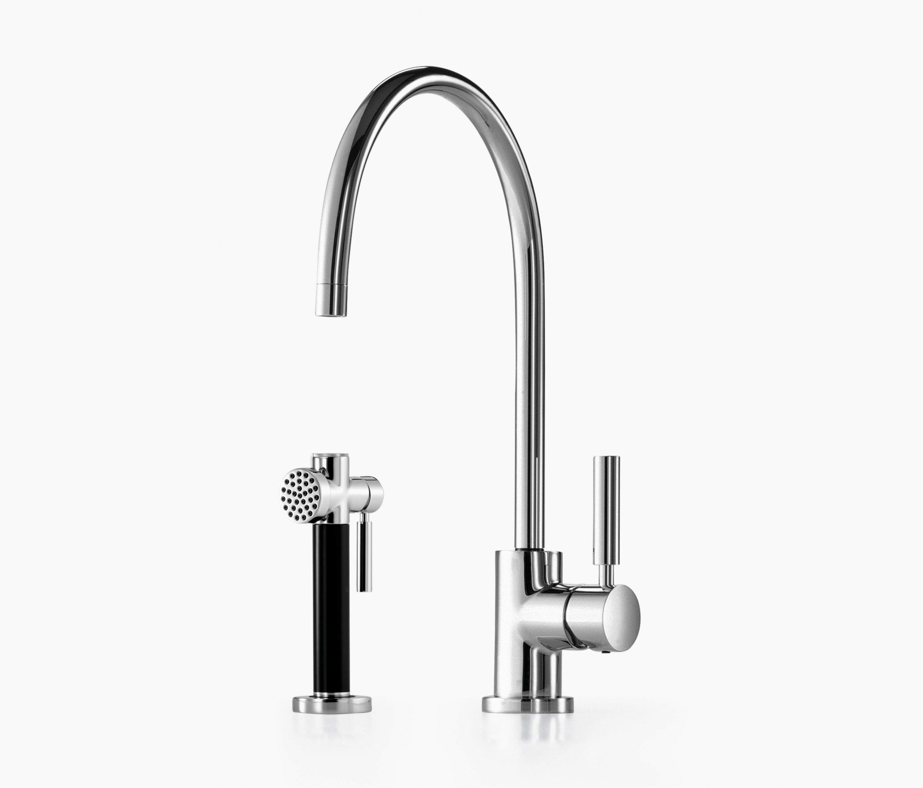tara classic single lever mixer with rinsing spray set kitchen taps from dornbracht architonic. Black Bedroom Furniture Sets. Home Design Ideas
