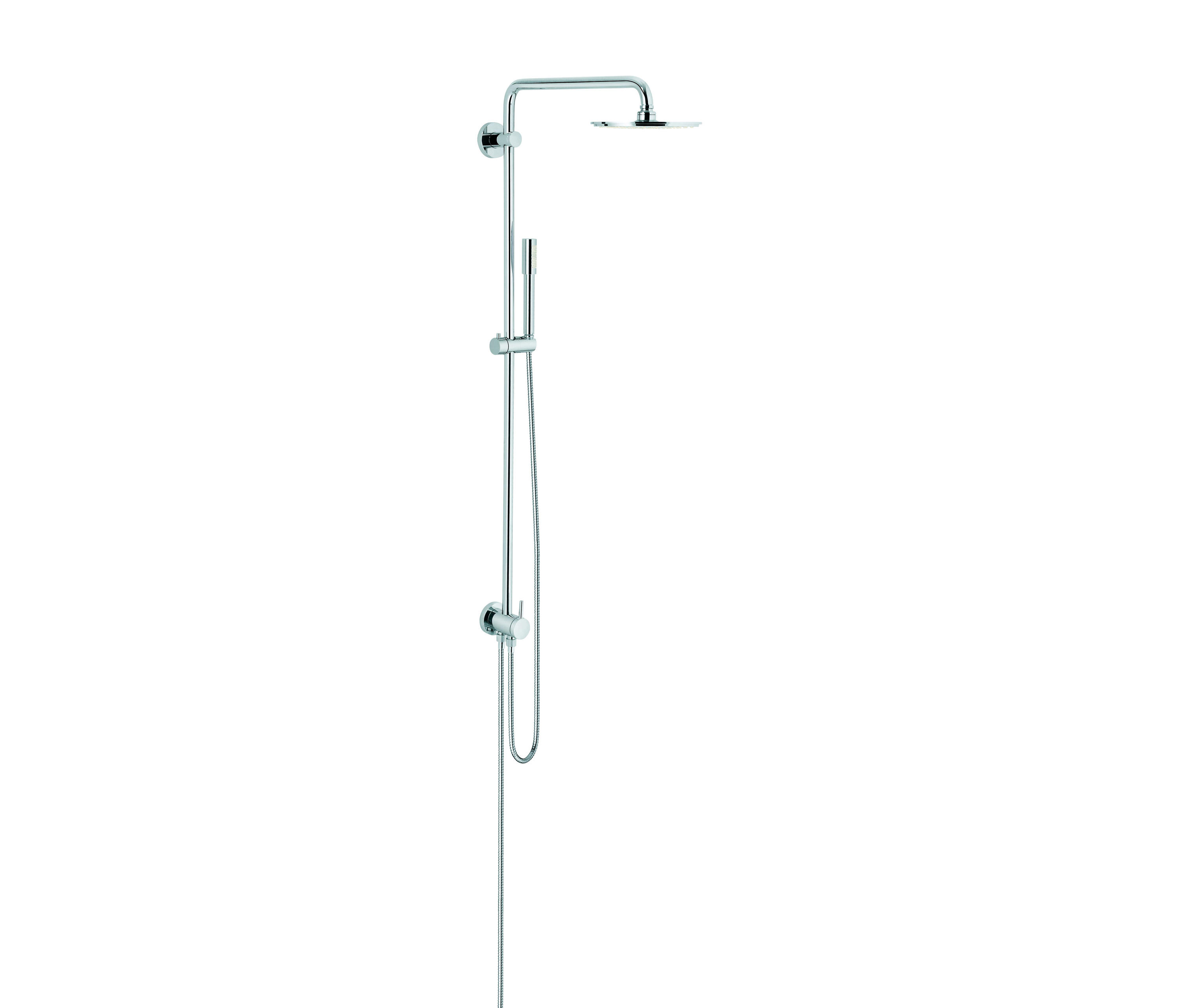 rainshower system 210 shower system with diverter shower taps mixers from grohe architonic. Black Bedroom Furniture Sets. Home Design Ideas