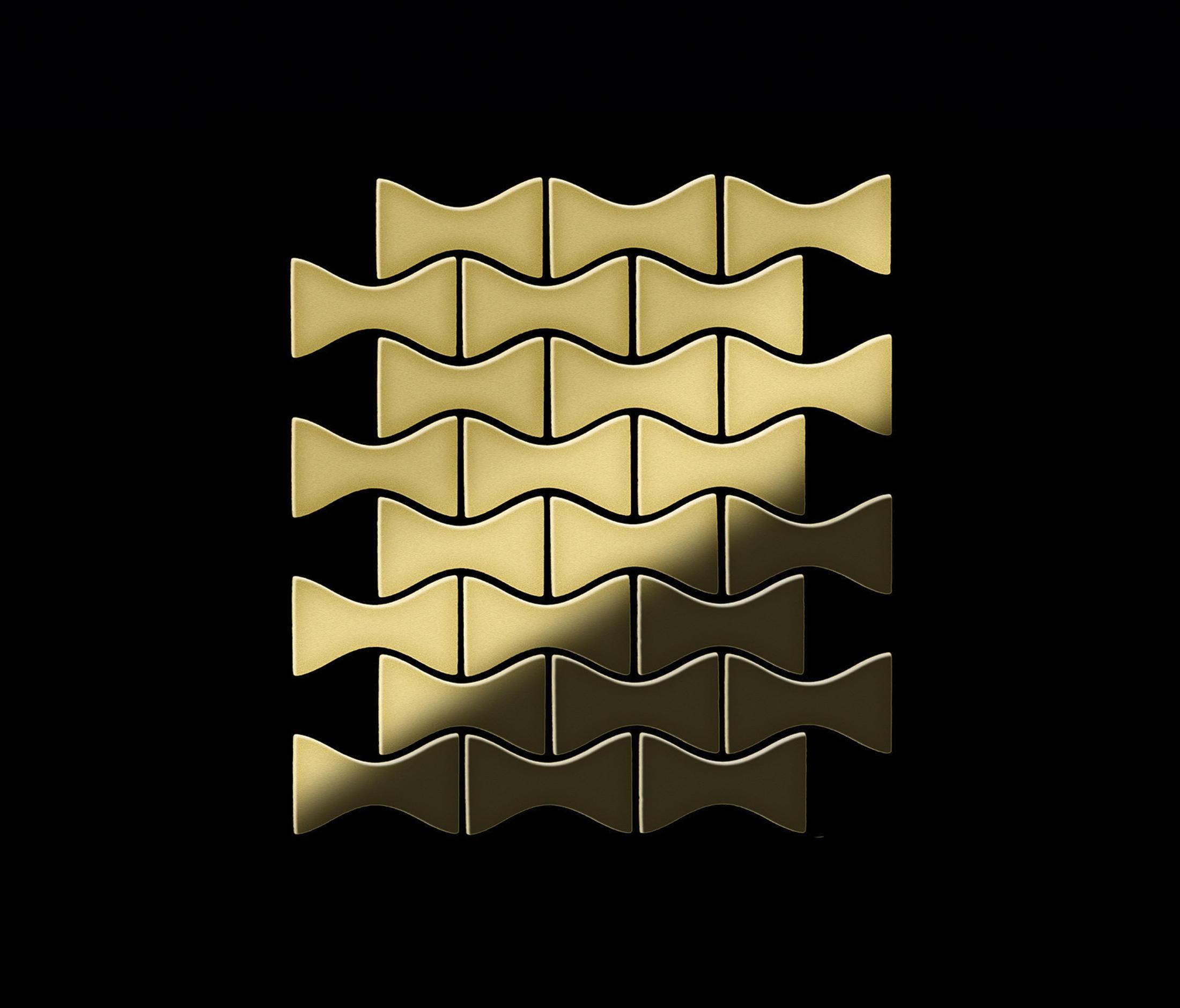 Kismet Brass Tiles Metal Mosaics From Alloy Architonic