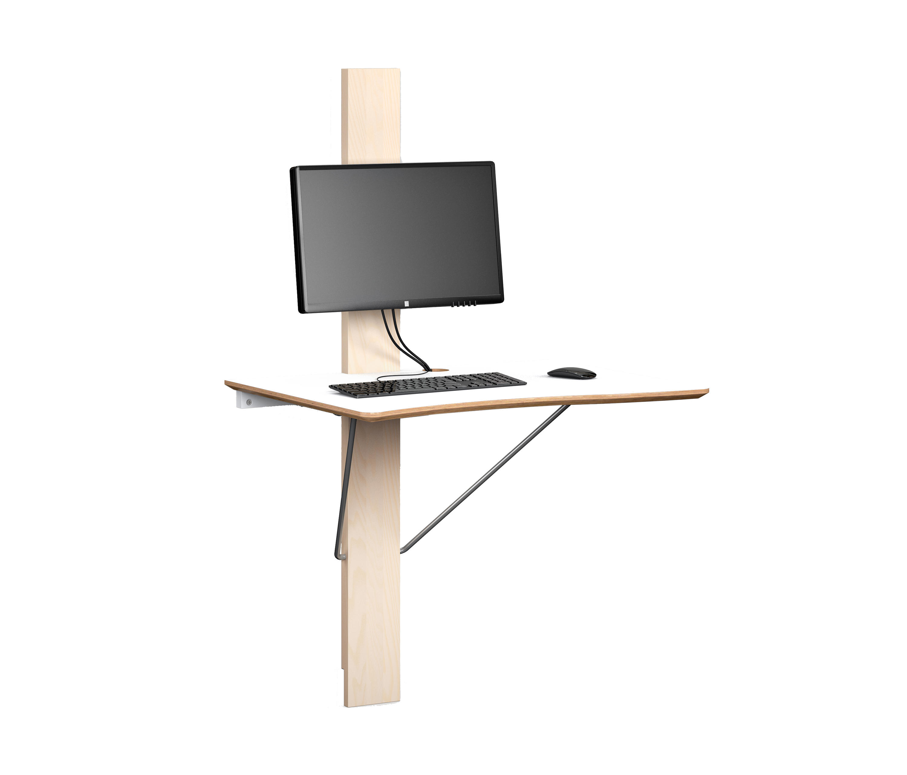 Log I Work Desk Standing Tables From Lillian Oberg Architonic