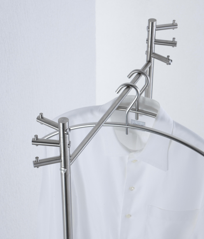 Kleiderständer Edelstahl Design standgarderobe 1 g st 1 freestanding wardrobes from phos