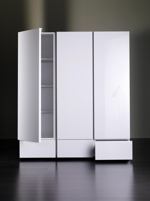 Белые шкафы для посуды антемион.