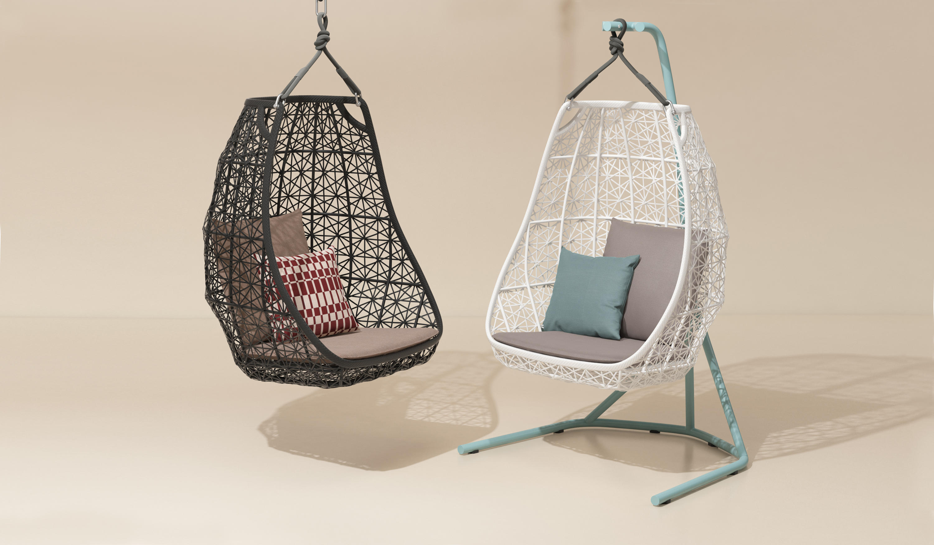 Maia egg swing swings from kettal architonic for Kettal maia