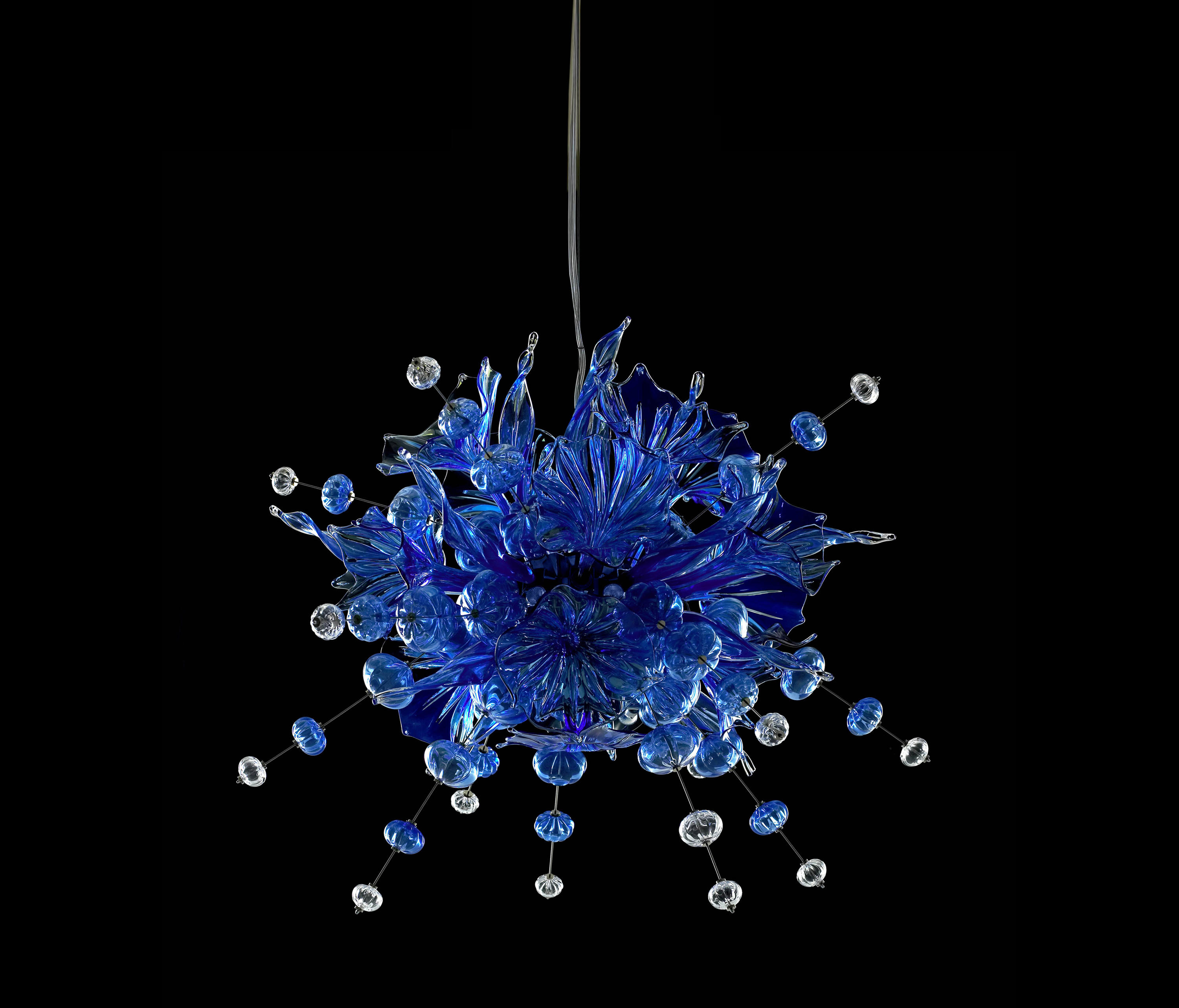 Kumulus 120 chandelier blue suspended lights from bsweden architonic kumulus 120 chandelier blue by bsweden suspended lights aloadofball Gallery