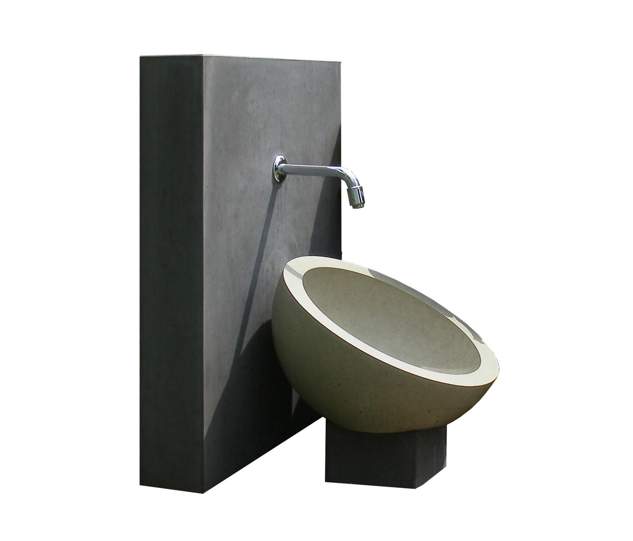 kaya garden washbasin drinking wells from oggi beton architonic. Black Bedroom Furniture Sets. Home Design Ideas