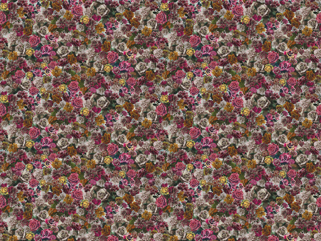 Unique Wall Coverings Hand Tinted Rose 001 Unique Wall Coverings Wallpapers From