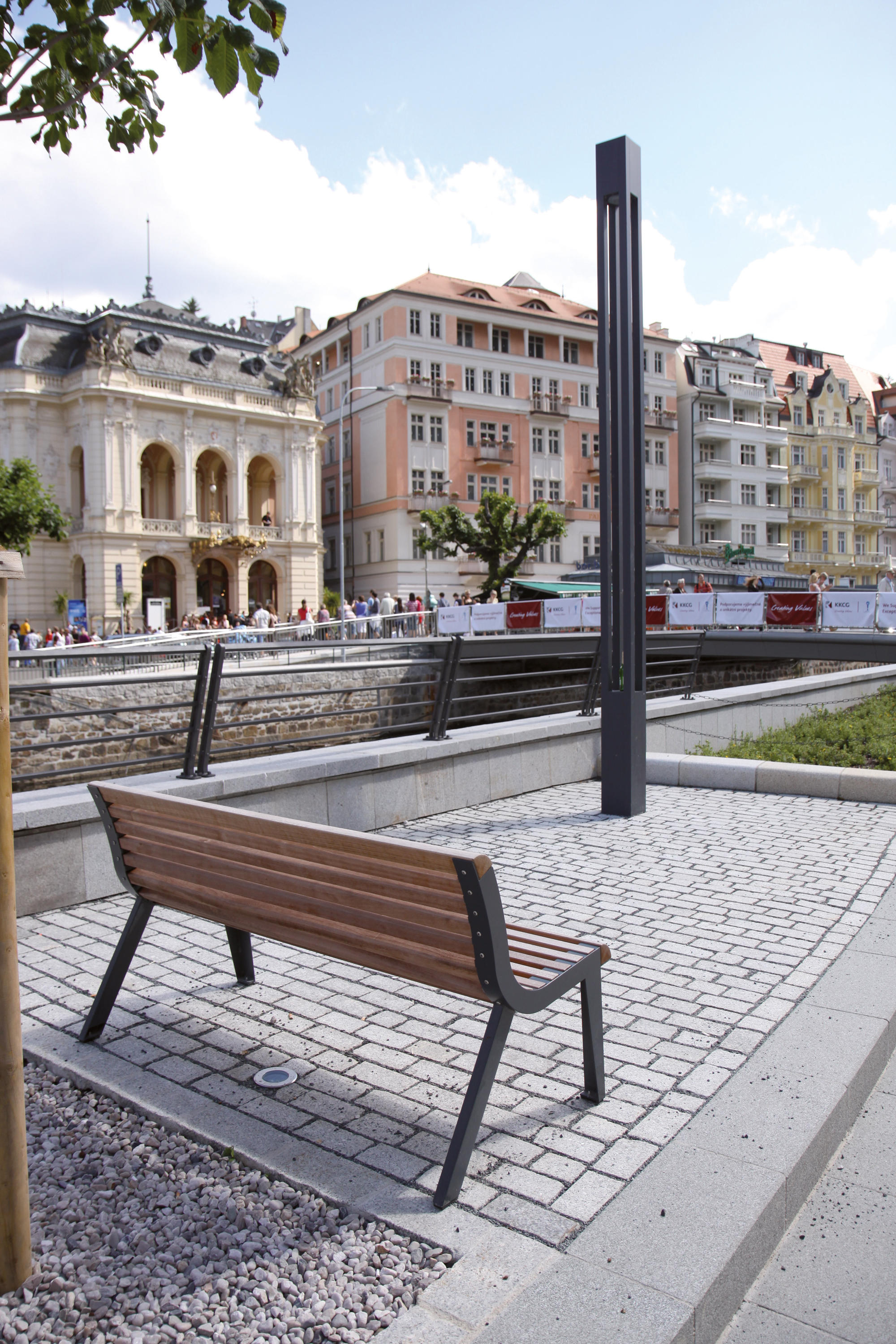 Diva Park Bench With Backrest By Mmcité Benches